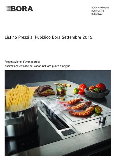 Catalogo listino bora settembre 2015 for Bora elettrodomestici